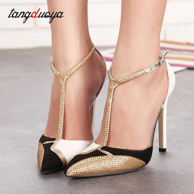 สุภาพสตรีรองเท้าปั๊มรองเท้าผู้หญิงรองเท้าส้นสูงรองเท้าผู้หญิงปั๊มชี้ Toe รองเท้าส้นสูงรองเท้าผู้หญิงรองเท้าส้นสูง
