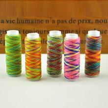 Цветная нить для шитья/нить для шитья с высокой интенсивностью/Цветная градиентная линия/5 разных цветов s швейная нить