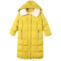 2018 Kış Kadın Ceketler Pamuk Coat Yastıklı Uzun İnce Kapşonlu Parkas Rahat Pamuk Yorgan Kar Dış Giyim Sıcak Yün Palto Z134