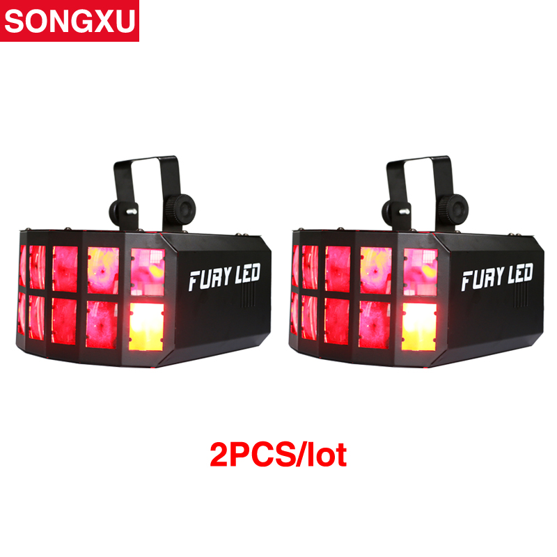 SONGXU 2pcs lot HOT Sell LED Disco Double Butterfly Effect Light for DJ Club Party Disco