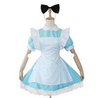 Black Butler Ciel Alice In Wonderland Women S Dress Maid Cosplay Costume Apron Lolita Skirt Evening