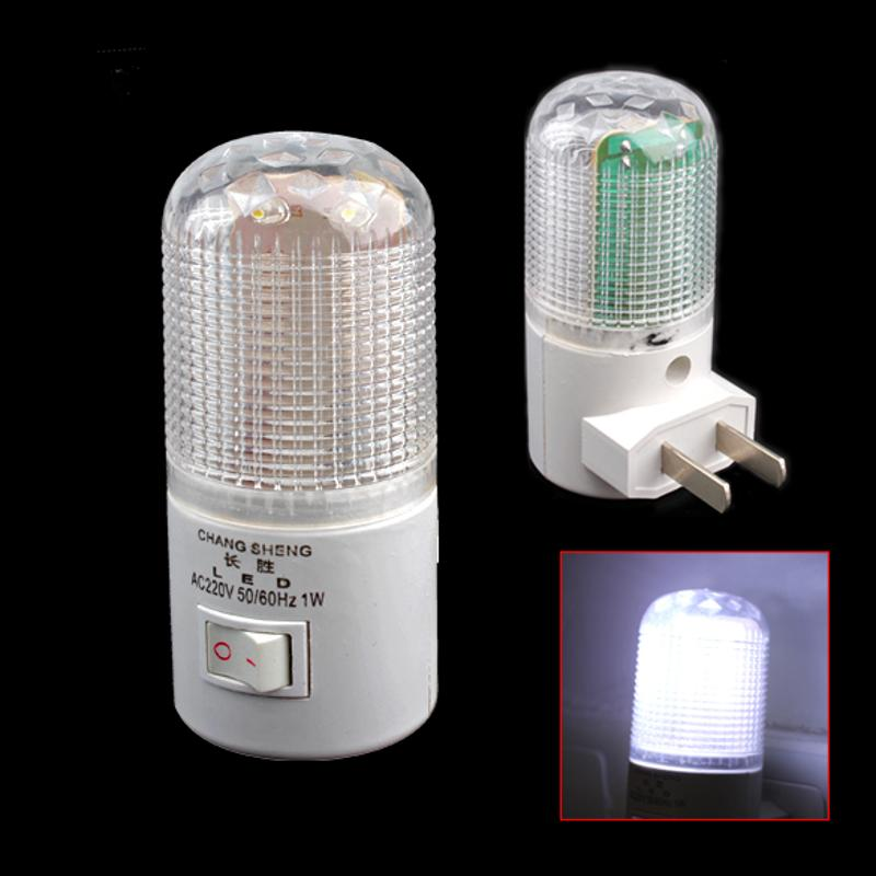 6 LED Night Light Wall Plug-in Bright White Light Saving Energy AC Powered Plug Type:2 Compressed Pin :6 X Bright Bulbs  AC 220V