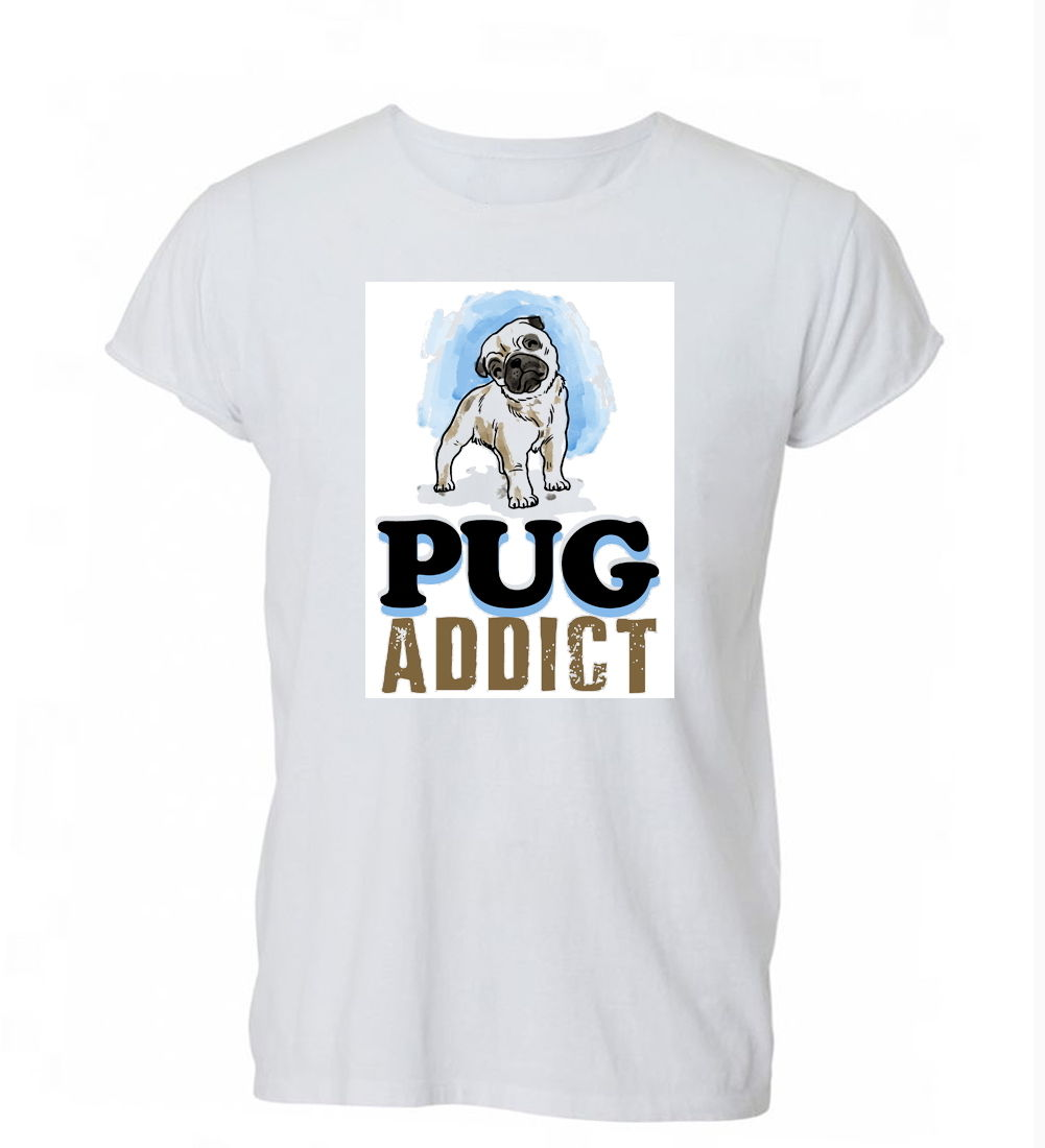 2018 Fashion Cotton T-shirt Pug Addict Dog Pet Lover Cute Funny K9 T Shirt Tshirt Mens Womens Gift ...
