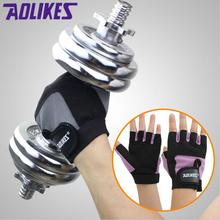 AOLIKES Gym Body Building Training Fitness font b Gloves b font Sports Weight Lifting Exercise Slip