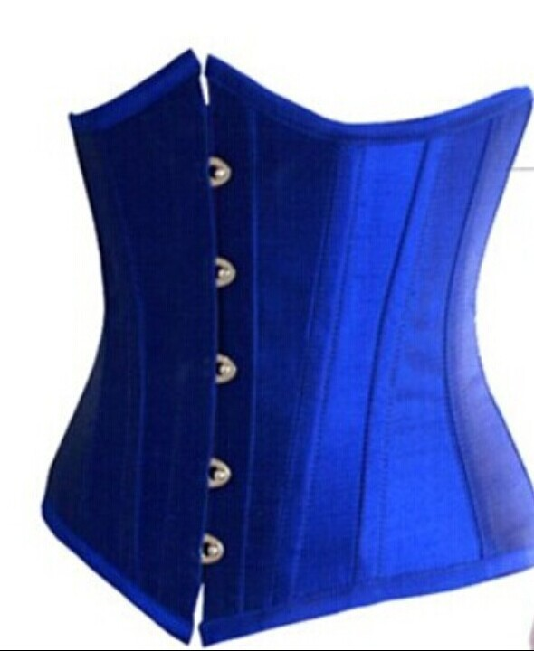 Blue-Underbust-Corset-Plus-Size-Lingerie-Waist-Training-Corsets-For-Women-Top-Bustier-Push-Up-Waist-Cincher