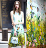 2015 New Super Have French Lace Tulle Roll Set Flower Printed 100 Natural Silk Fabric Dress