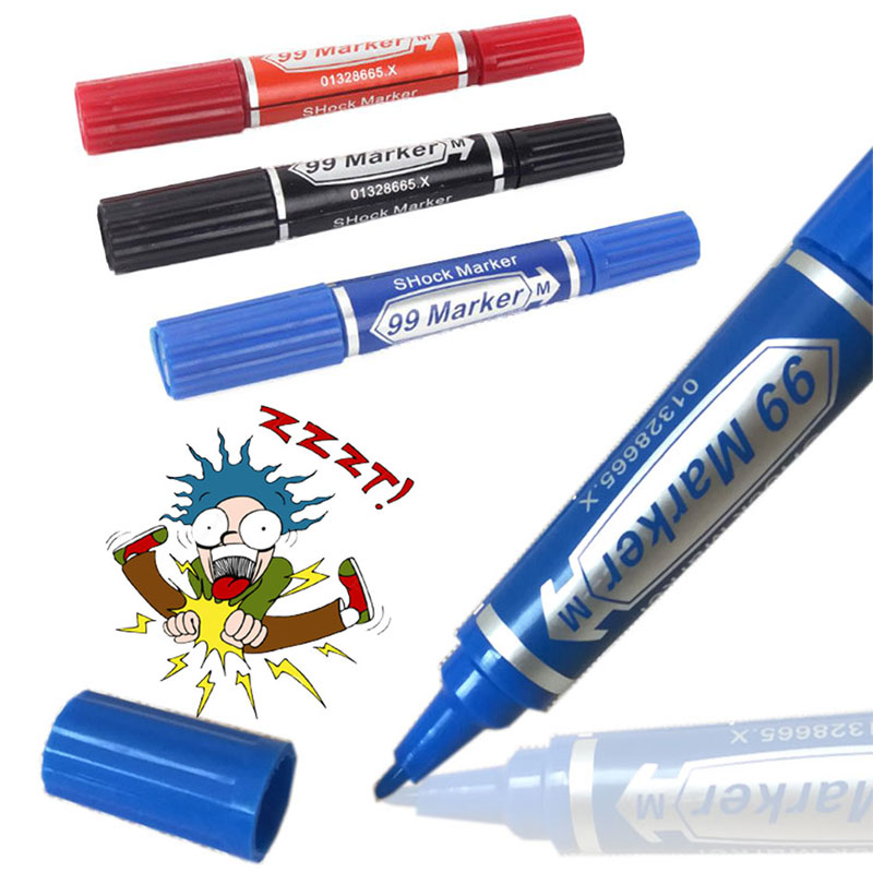 Electric Shock Marker Pen Toy Trick Novelty Funny Toys Festival Party Plastic Trick Prank Toy