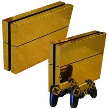 Золотая Кожа Наклейка для playstation 4 ПВХ Виниловая Защитная крышка наклейки для ps4 консоли и контроллера наклейка для ps4 кожи