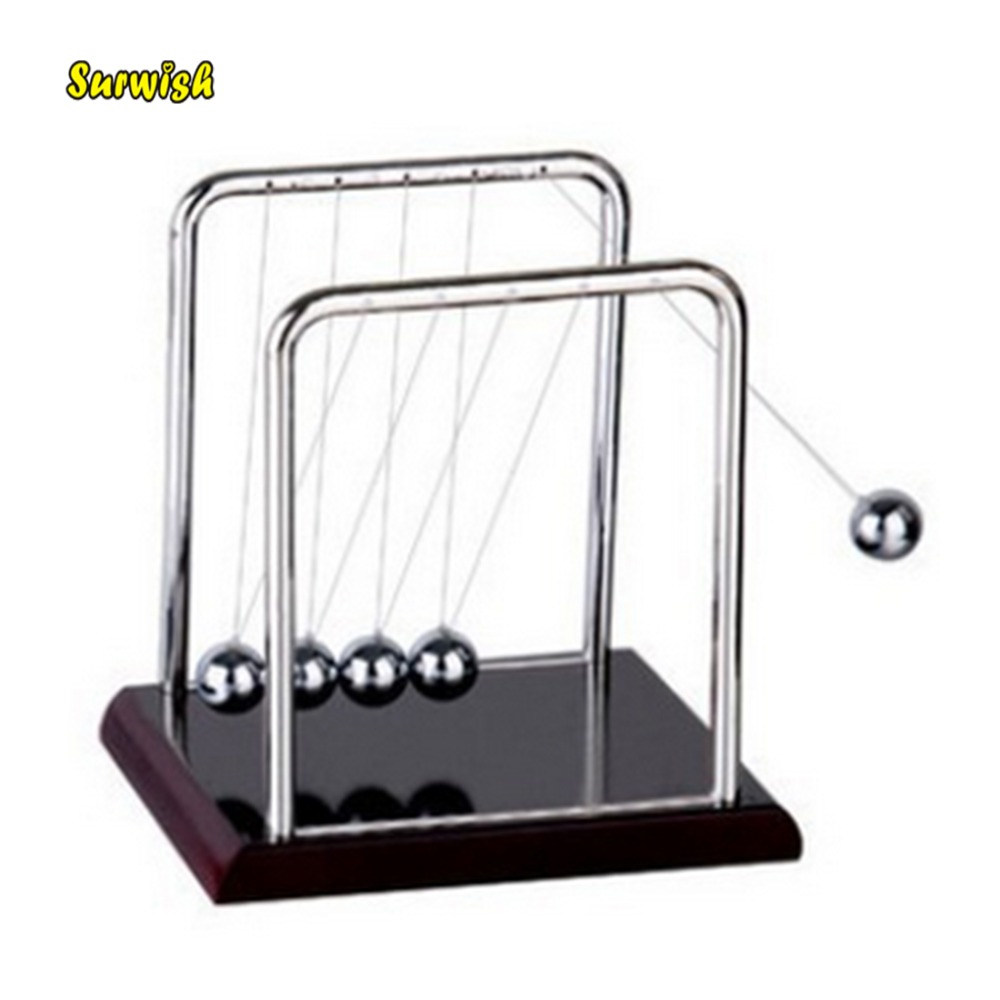 Surwish 2018 New Newton Cradle Balance Steel Ball Room Gift Swinging Science Puzzle Fun Desk Physics Toy S fun desk