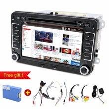 Androide de dvd del coche 2 Din 7 Pulgadas de Coches Reproductor de DVD Para VW/Volkswagen Passat/POLO/GOLF/Skoda/Seat/Leon Con Navegación GPS FM RDS Mapas