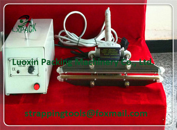 LX-PACK Portable Heat Sealers 8''-16'' Heat Sealers scissors sealer configuration sealing polypropylene polythene bags tubing