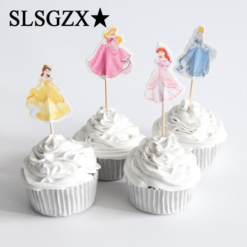1 Set Roze Blauw Eenhoorn Party Cake Topper Bruiloft Cupcake Decoratie Gelukkige Verjaardag Feestartikelen Baby Kinderen Party Decor Hoge Veiligheid