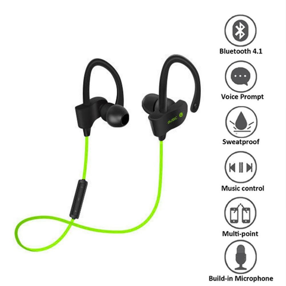 Fashion Cool Wireless Bluetooth Sports Headset Universal Sweat-proof Stereo In-Ear Earphones with Microphone for Smart Phones