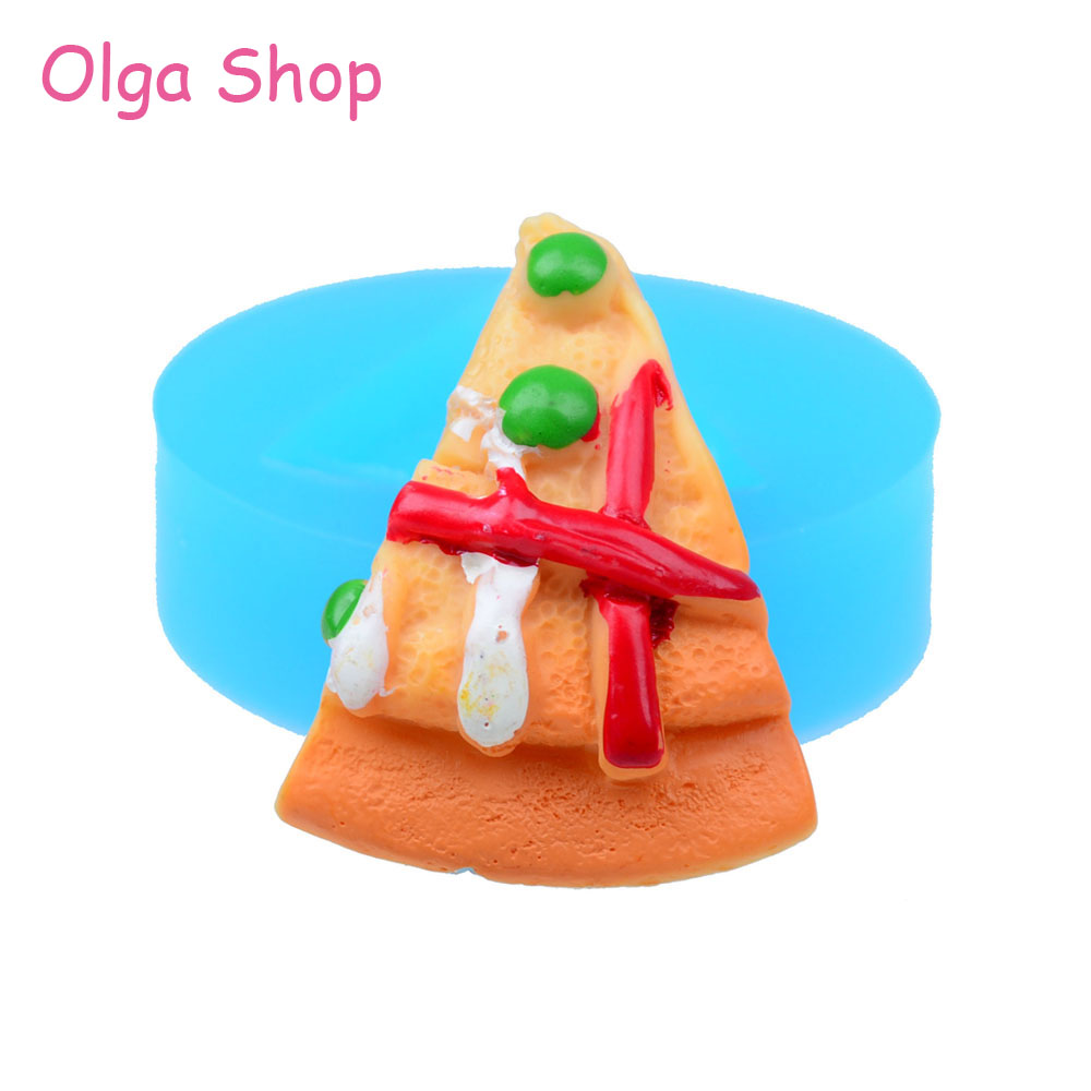 Fake Cotton Candy: GYL049 Pizza Mold Flexible Silicone 41mm Cabochon Decoden