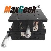 XYZ оси ЧПУ платформа ручной раздвижной стол крест железнодорожных линейной стадии XYZ125L 125 мм
