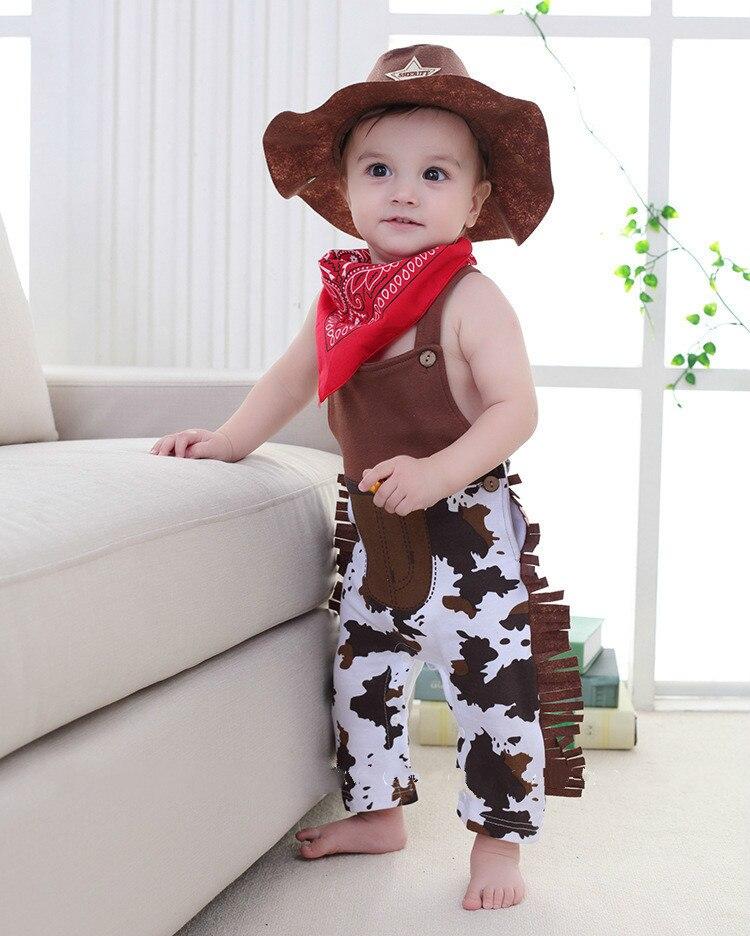 Bebé mameluco de niño conjuntos de traje de bebé niño vaquero ropa 3 ... fb58f91fc65
