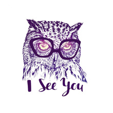 Clothes Patches Owl With Glasses Clothing Deco New Design Washable Badges Heat Transfer Diy Accessory