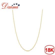 7d77a7497254 DAIMI genuino 18 K oro amarillo cadena 18 pulgadas AU750 precio de coste  COLLAR COLGANTE Wendding partido regalo para las mujere.