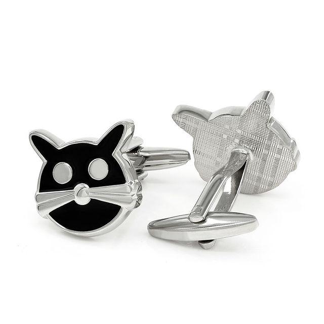 Kemstone Cat Cufflinks Animal Cuff Link Silver Plated Gemelos Personalized Groomsmen