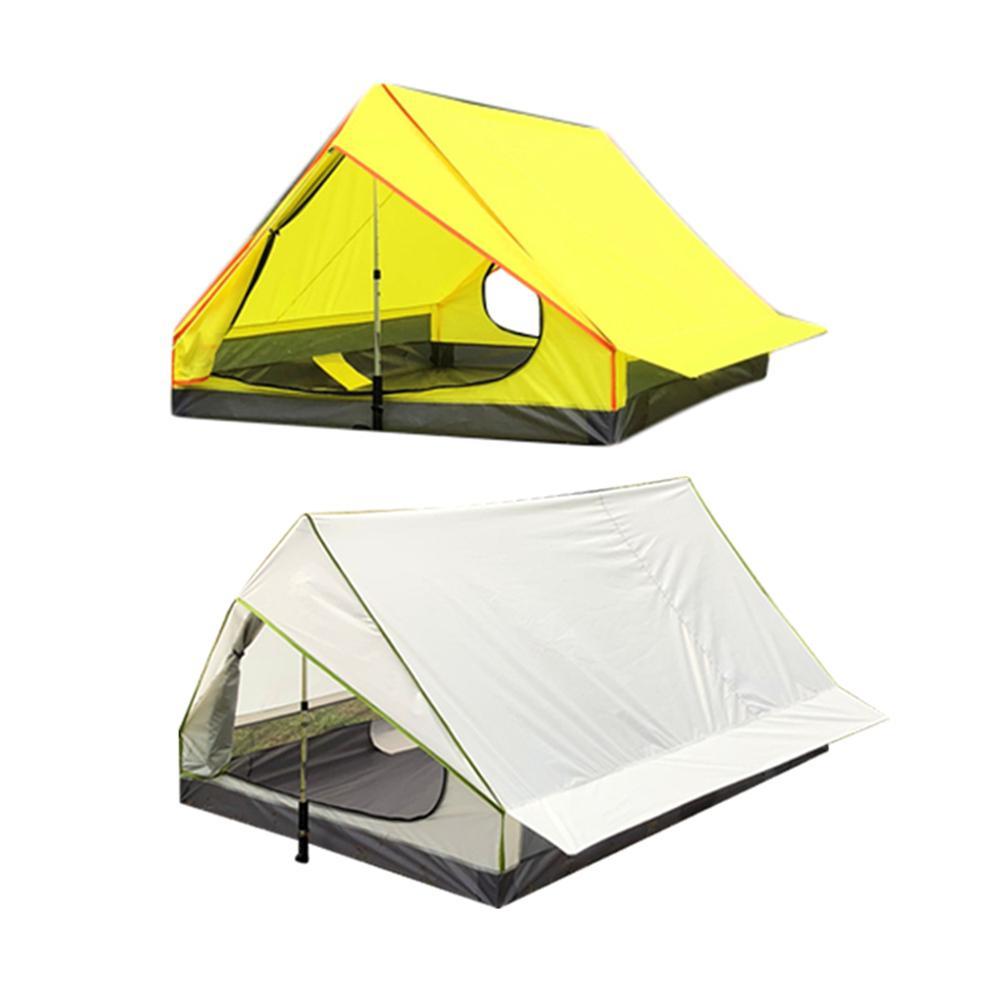 Sans tige Portable UN En Forme de Camping Tente Simple Couche Tente Ultra Lumière Équipement de Plein Air Matériel de Camping Ultra-léger Coupe-Vent