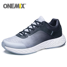 ONEMIX Men Lightweight Running For Women Grey Casual Sneakers Breathable Mesh Upper Trail Trainers