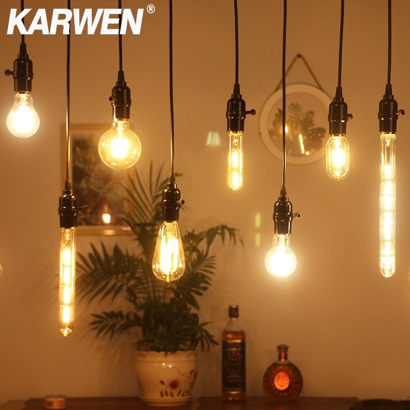 Светодиодный светильник Эдисона E27, винтажный светодиодный светильник в стиле ретро, E14, 220 В, 2 Вт, 4 Вт, 6 Вт, 8 Вт, винтажный светильник в форме ...