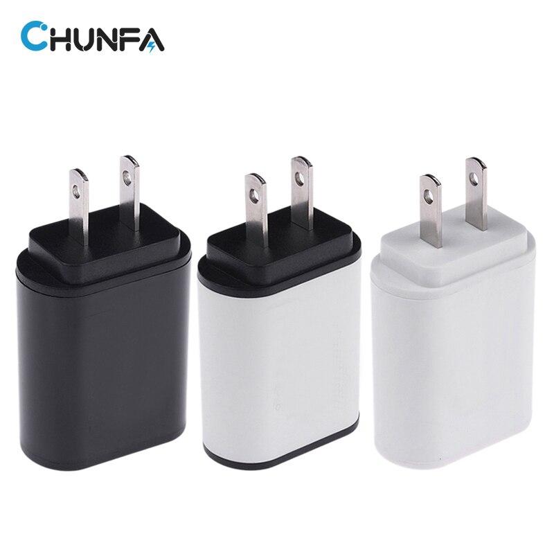 CHUNFA Universal Dual USB Charger for Phone US Plug Adapter USA Travel Portable Wall Charger for iPhone USB Charge 5V 2A