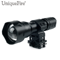 Original UniqueFire EU Product T20 IR850nm LED Tactical Flashlight+QQ07 25.4mm Ring Diameter Scope Mount For Night Rifle Hunting