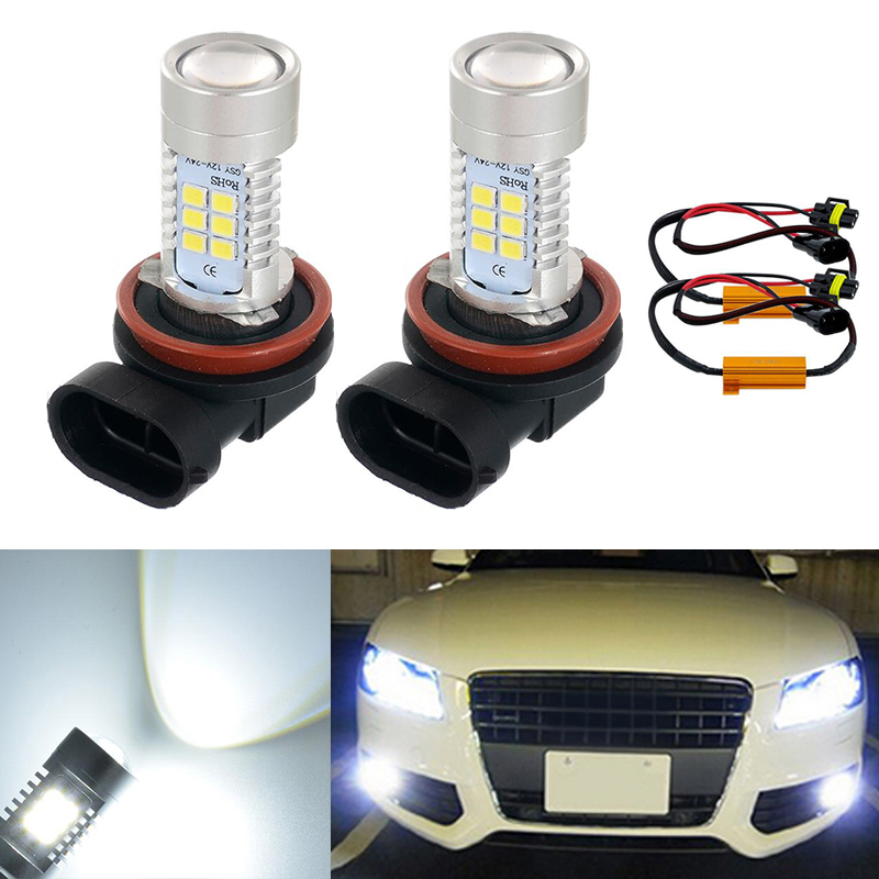 For Ford Escort 1990-2000 Front Fog Light H3 Xenon Headlight Bulbs Pair Lamp
