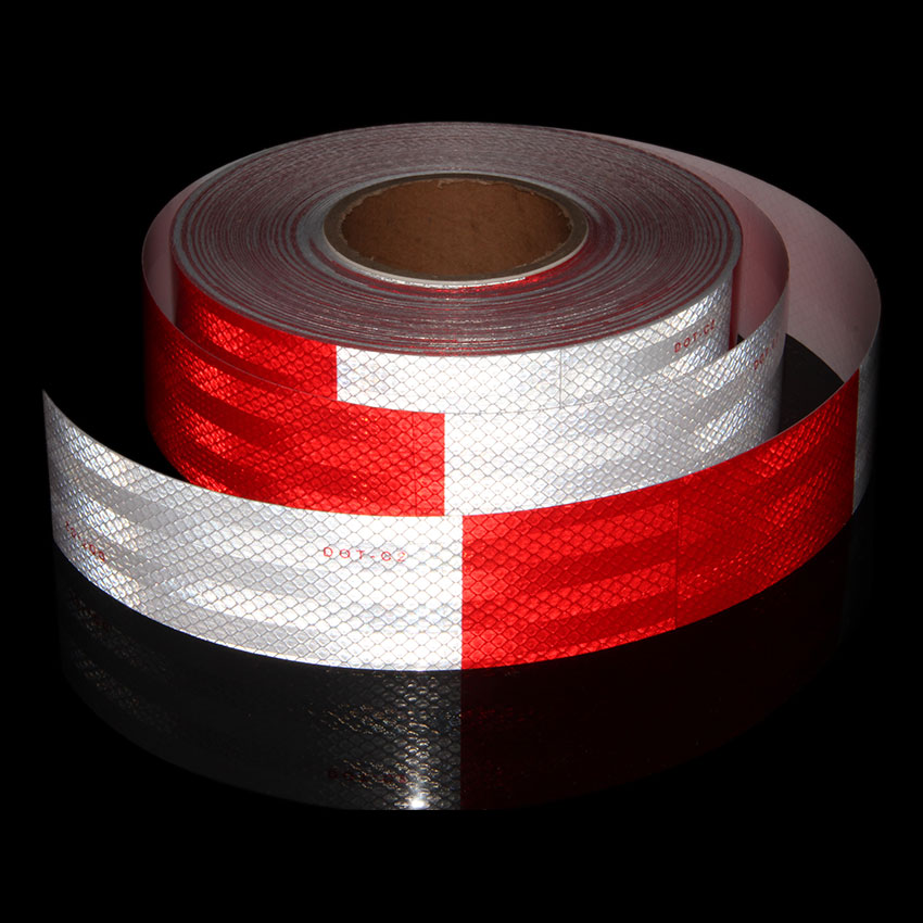 Red White Bicycle Stickers DOT C2 Diamod High Intensity Reflective Stickers Trailer Bicycle Tape Cycling Stickers