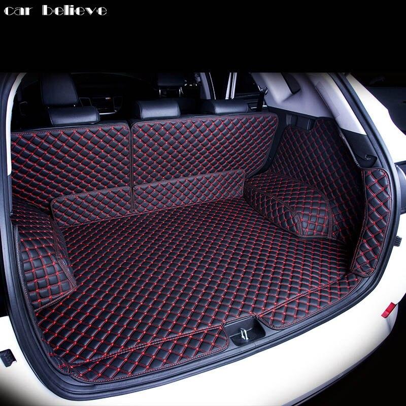 Car Believe Custom car trunk mat For hyundai creta ix25 2017 2016 Cargo Liner Interior Accessories Carpet car styling коврики в салонные ниши синие ix25 для hyundai creta 2016