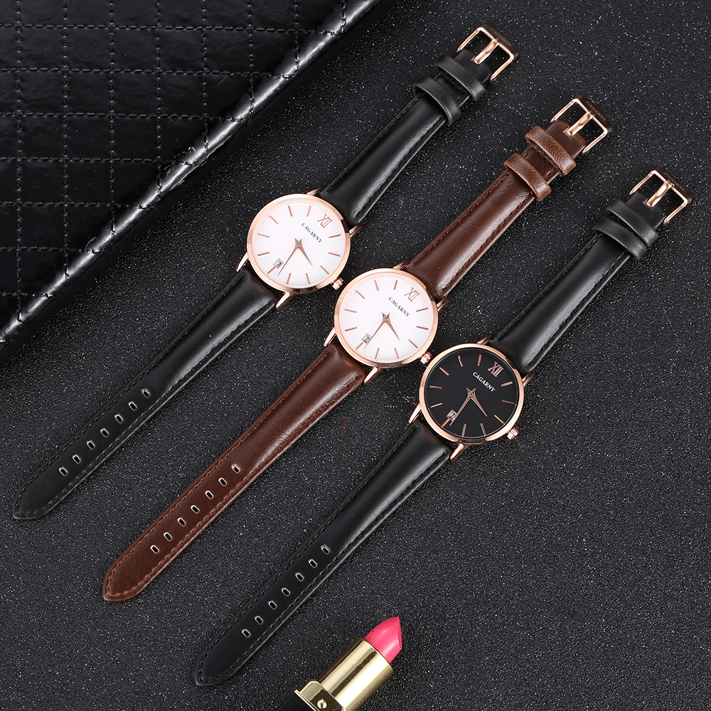Cagarny Women Watches Luxury Brand Leather belt Ladies Quartz Women Watches 2018 Sport Relogio Feminino Rose Gold Montre Femme Wrist Watch high quality (7)