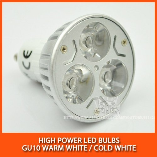 Wholesale 250PCS High power led spotlight Bulb Lamp 3W 6W GU10 Warm white/cold white Dimmable AC85-265V Free Shipping