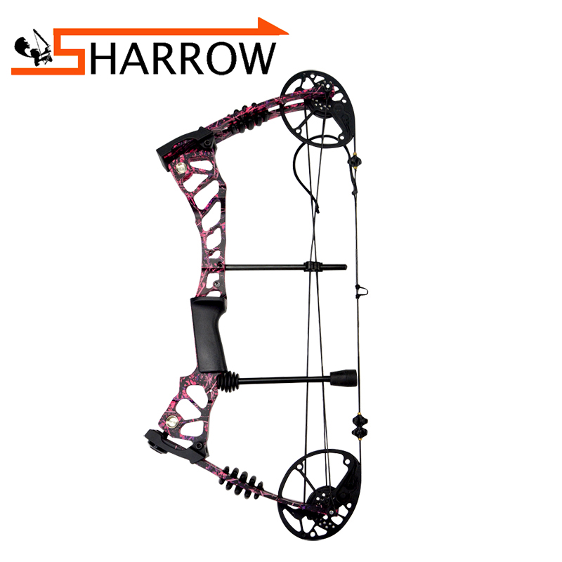 40 60lbs Archery Compound Bow Red Camo Arrows Adjustable Outdoor Hunting Shooting Target Accessory