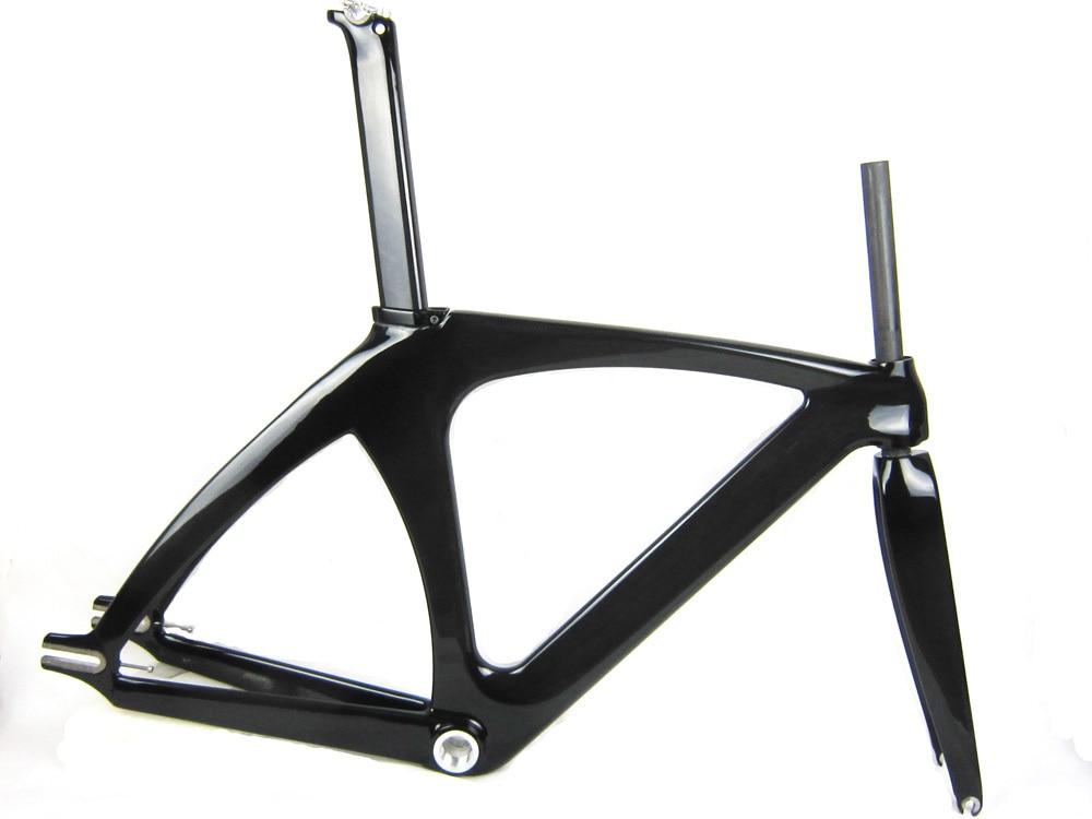 Full Carbon Track Frame Bike Bicycle Frame T800 3k Ud Glossy