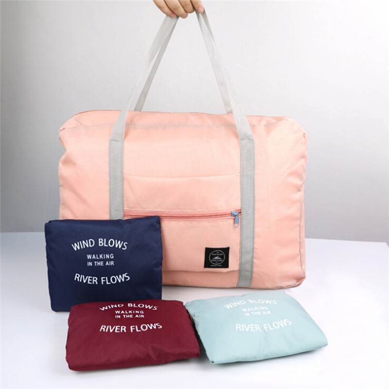 1Pc Foldable Waterproof Travel Bag Unisex Luggage Travel Large Capacity Bag Women Folding Handbags