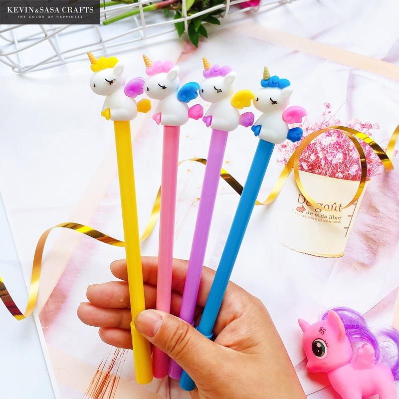 4Pcs/Set Gel Pen Unicorn Pen Stationery Quality School Supplies Gel Ink Pen School Stationery Office Suppliers Pen Kids Gifts