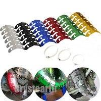 2pcs Universal Motorcycle Exhaust Muffler Pipe Heat Shield Cover Guard For KTM Honda CB 599 919