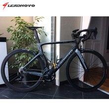 LEADNOVO дороги углерода велосипеда дисковые тормоза Di2 механические 3 К 1 К углеродного волокна дорожный Велосипеды велогонки фреймов велосипед из Тайвани