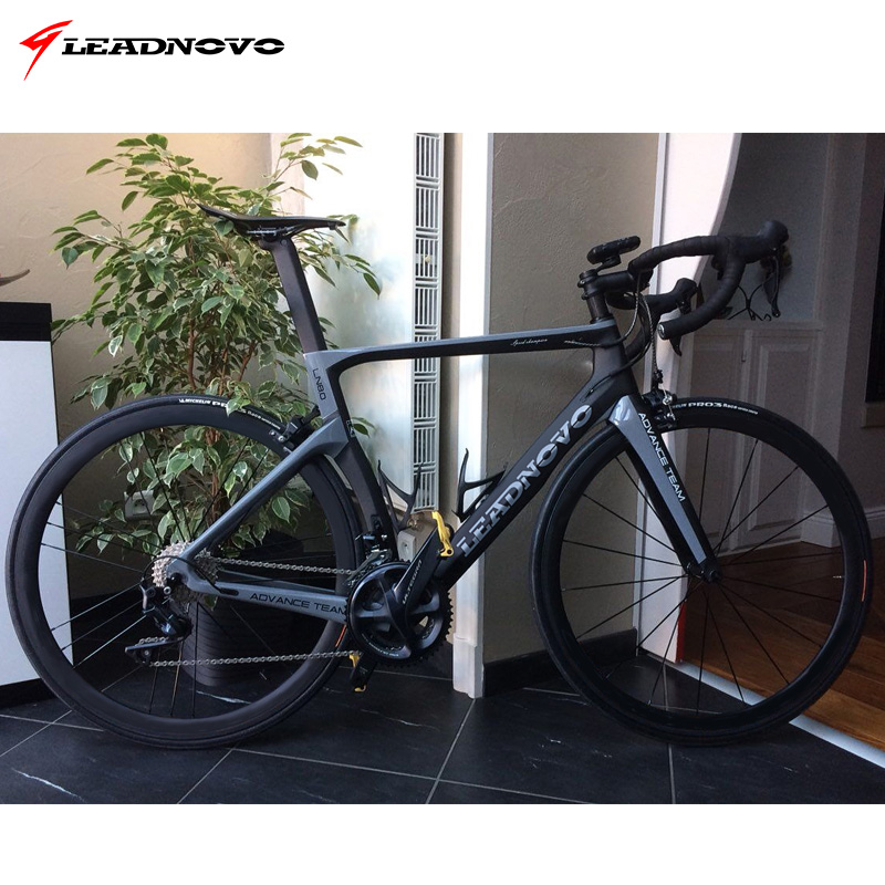 LEADNOVO Carbon Road Frame V brakes disc brakes Di2 Mechanical 3K 1K carbonрама велосипеда cycling race bicycle frameset taiwan in Bicycle Frame from Sports Entertainment