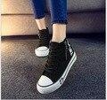 2017 Весна Осень мода классический холст обувь женщин платформа высокой помочь женщинам ткань обувь Студенты повседневная обувь