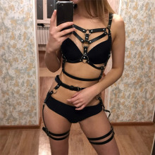 BDSM rope bondage harness toys for women adult game costume bra and leg straps suspenders garter belt sex set accessories