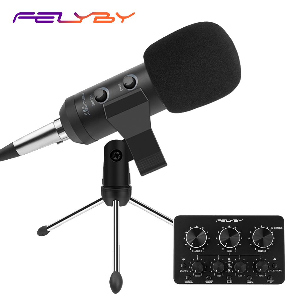 FELYBY new adjustable bm 900 USB <font><b>microphone</b></font> for computer recording & professional condenser <font><b>microphones</b></font> video room karaoke image