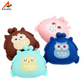 2016 Cute Candy Color Owl Silicone Coin Purse Wallet Card Rubber Key Phone Bag Pouch  Fashion Cute Small Zipper Bag For Women 45