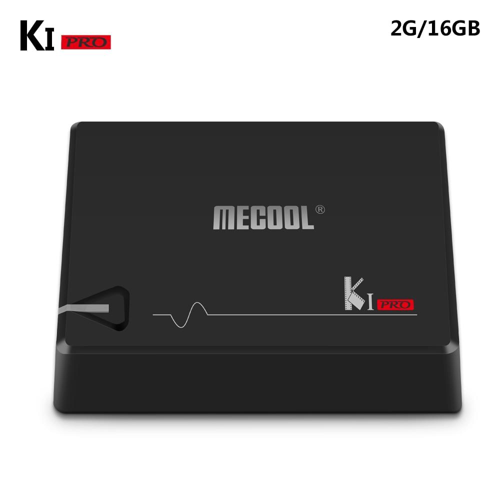 MECOOL KI PRO TV Box K1PRO DVB S2+T2 Amlogic S905D Quad 2G+16G DVB-T2&S2/DVB-T2/DVB S2 DVB-C Set Top Box Android 7.1 TV Box спутниковый ресивер dvb s2 rolsen rdb 703