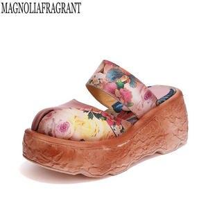 74a81016f5ea68 Summer Shoes Flat Platform Sandals Women Slides slippers
