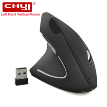 Wireless Vertical Left-handed Mouse Ergonomics 800/1200/1600 DPI Optical Rechargeable Mice Gaming Mouse For PC Computer Laptop