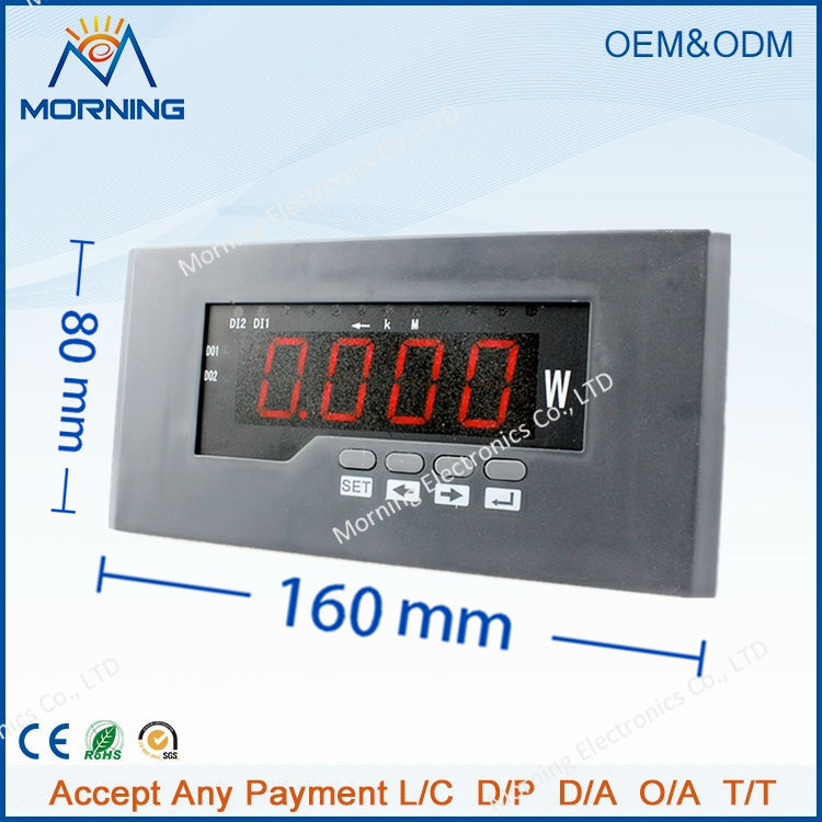 P11 frame size 80*160 mm hot sell factory price single-phase led display ac digital active power meter, for industrial use  цены