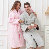 Cotton Bathrobe Women Plus Size XL Long Thick Soft Warm Towel Terry Robe Nightgown Ladies Nightdress