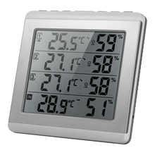 Digital Indoor/Outdoor Thermometer Hygrometer Four channel Temperature Humidity Meter with 3 Outdoor Transmitter Comfort Level